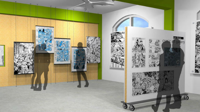 Artist's rendering of the San Diego ComicArt Gallery opening Friday.