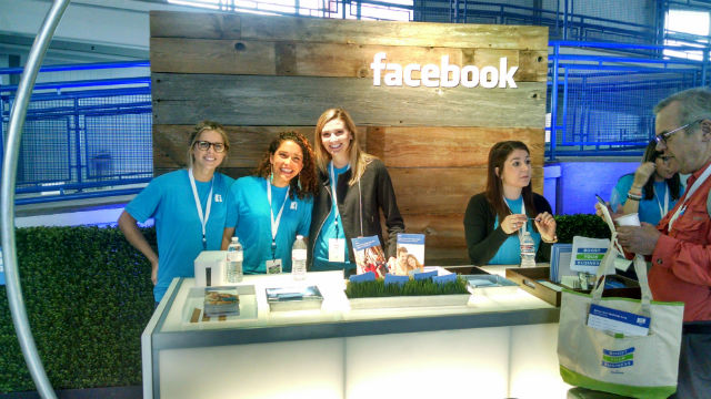 A Facebook booth at the boot camp. Photo by Chris Jennewein