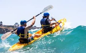 Kayaking off La Jolla with Everyday California.