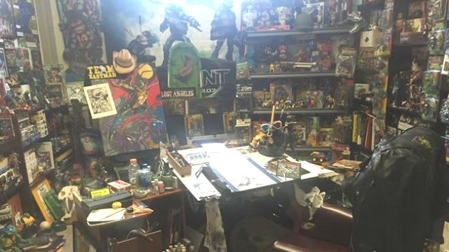 A re-creation of the studio of Kevin Eastman, co-creator of the popular Teenage Mutant Ninja Turtles series. Photo by Luis Monteagudo Jr.