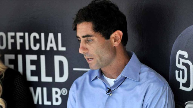 Padres General Manager A.J. Preller talks to the media about his decision to fire Bud Black. Photo by Chris Stone