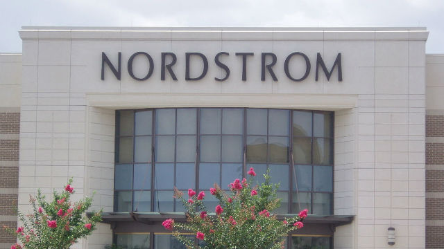Exterior of a Nordstrom retail store in a mall.