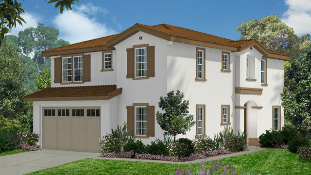 Architect's rendering of a house in KB Home's Ridgeline community in Lakeside.