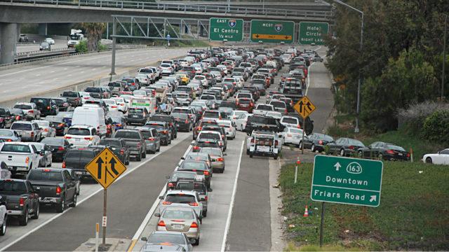 Caltrans Schließen Friars Road an der SR 163 von Samstag Nacht bis Montag Morgen