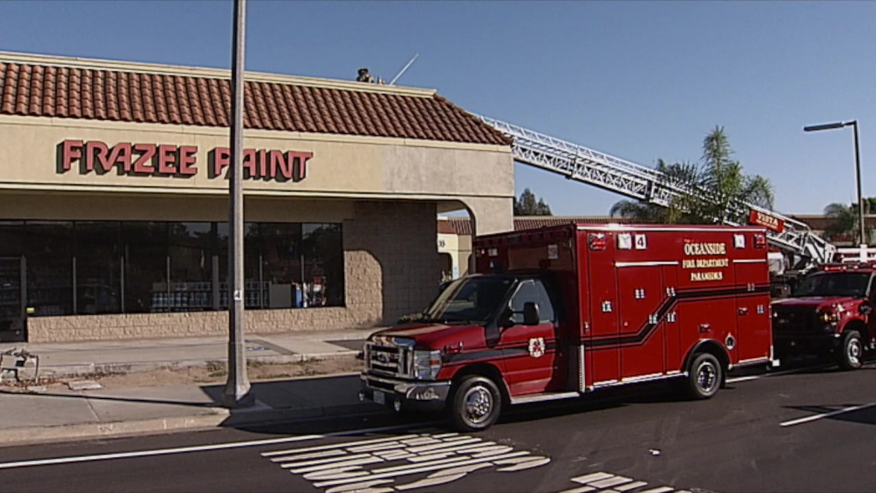 Paint Store Fire In Vista Doused Within 35 Minutes Times Of San Diego
