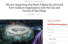 The petition a fan has created to boot Mark Fabiani out of stadium negotiations.