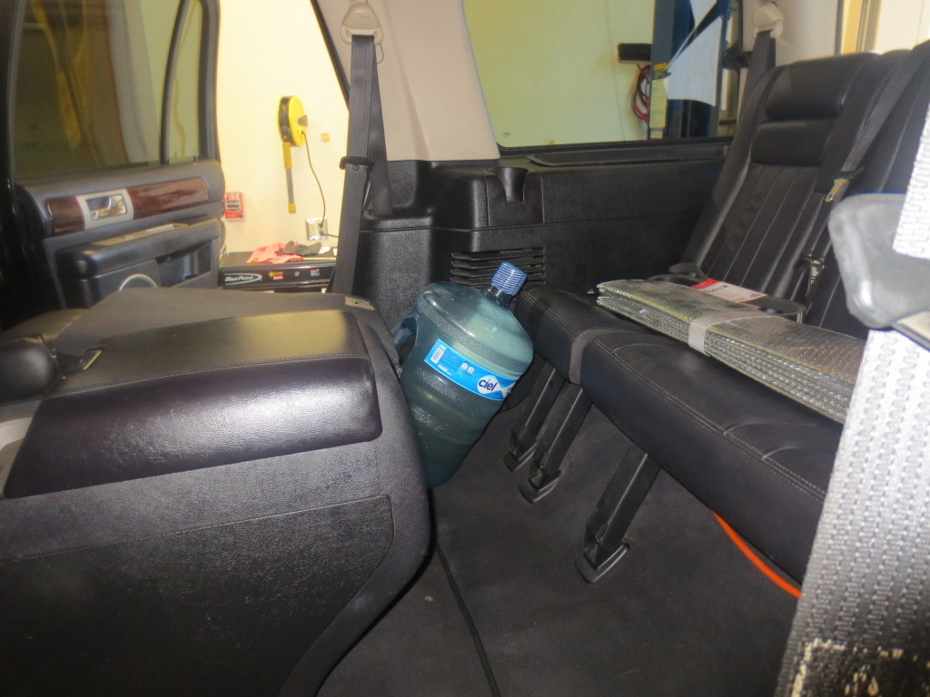 U.S. Border Patrol agents apprehended a man attempting to smuggle liquid meth in five-gallon water bottles. Photo courtesy of U.S. Border Patrol.