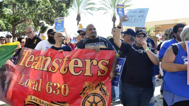 Teamsters union protest
