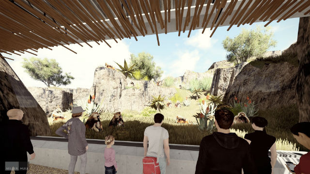 A rendering of the Baboon viewing area in Africa Rocks. Courtesy San Diego Zoo