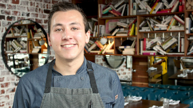 Executive Chef Chris Gentile inside the Double Standard Restaurant & Bar in the Gaslamp.