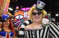 Cosplayers greeted each other and posed for pictures throughout the exhibit hall.  Chris Stone photo