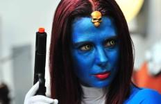 A fan portrays Mystique from X Men. Chris Stone photo