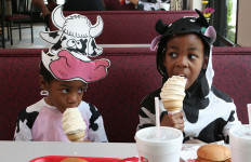 Kids dressed as cows — and adults — will get free chicken meals. Parker Smith photo