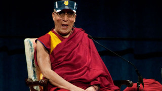 The Dalai Lama at a previous visit to UC Irvine. Photo by Steve Zylius of UC Irvine