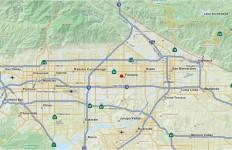 U.S. Geological Survey map shows the location of the Fontana quate.