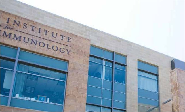 Exterior of the La Jolla Institute for Allergy and Immunology. Image from the institute's brochure