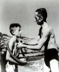 Jean-Michel Cousteau with his father, Jacques.
