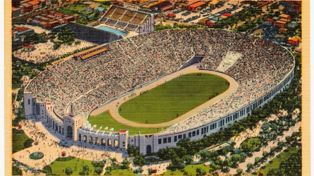 The Los Angeles Coliseum, or Olympic Stadium, hosted the 1932 and 1984 Summer Olympics.