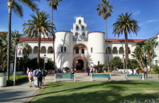 Hepner Hall at San Diego State University. Photo by Chris Jennewein