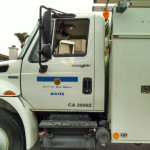 Water department truck