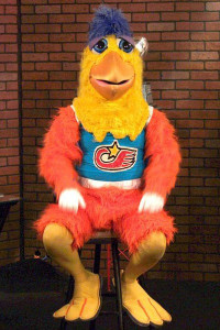 Ted Giannoulas as The Chicken. Image via Wikimedia Commons
