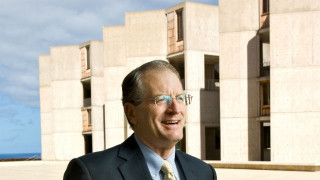 William Brody outside the Salk Institute. Photo courtesy of Salk