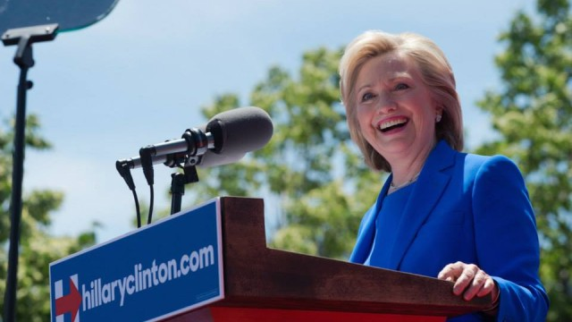 Hillary Clinton at a rally. Photo courtesy of HillaryClinton.com