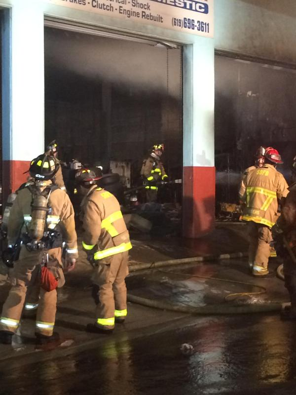 Electrical Fire Damages Auto Repair Shop In Little Italy Times Of San Diego