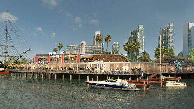 Port considering 2 restaurant concepts to replace anthony for Anthony s fish grotto san diego