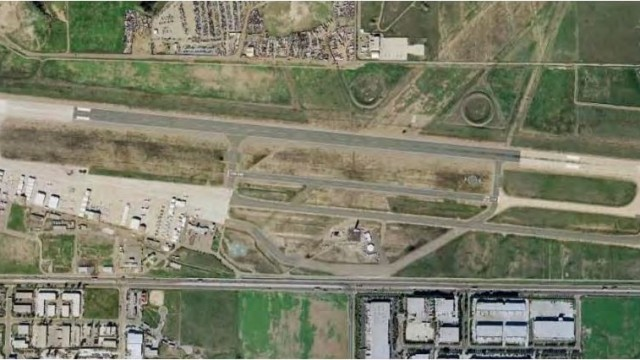 An aerial view of Brown Field in Otay Mesa. Courtesy City of San Diego