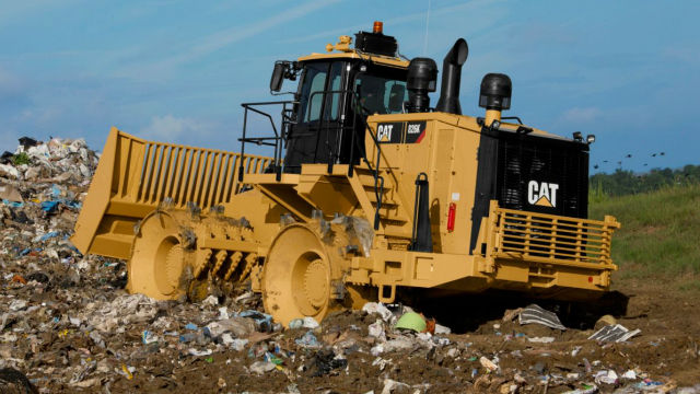 Caterpillar Landfill Compactor : Supervisors approve reducing amount of waste in san diego