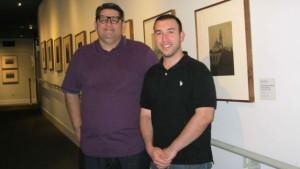 Filmmakers Miguel-Angel Soria Ileft) and Peter Alkatib.