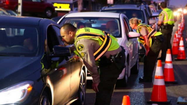 A drunk driving checkpoint. Photo courtesy San Diego Sheriff's Department