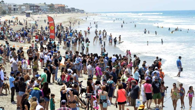 Crowded beaches in San Diego. Photo by Chris Stone
