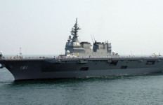 The JS Hyuga, a helicopter carrier. Photo via Wikimedia Commons