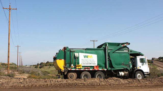 Garbage truck at Miramar