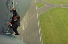 "Scene from ""Mission: Impossible -- Rogue Nation."" Image from official trailer"
