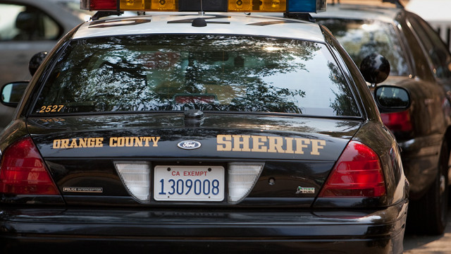 Orange County Sheriff's Department cruisers. Photo by John Schreiber via MyNewsLA.com