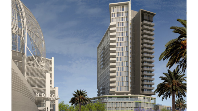 Architects rendering of the 330 13th Street project. Courtesy of The Richman Group