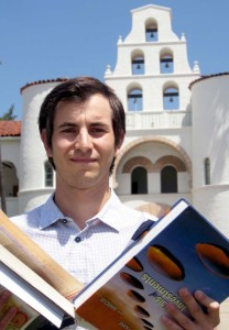 SDSU grad Ryan Heimpel helps students buy and sell used textbooks via several websites. Photo courtesy PH Photo