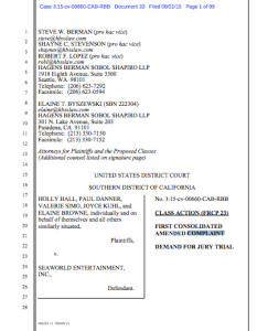 Read amended complaint of Aug. 21, 2015, against SeaWorld. (PDF)