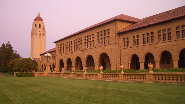Stanford University with the Hoover Tower. Photo by Pere Joan via Wikimedia Commons