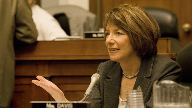 Rep. Susan Davis at a House Armed Service Committee meeting. Courtesy of Davis' office