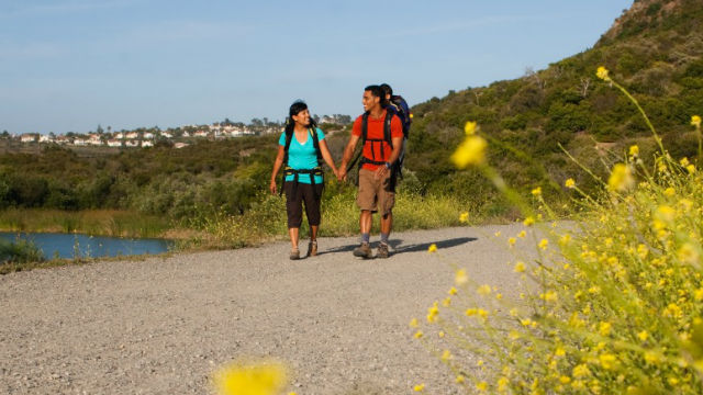 A family on a hiking trail in Carlsbad. Courtesy City of Carlsbad
