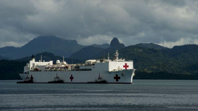 The USNS Mercy arrives in Fiji in June. Navy photo