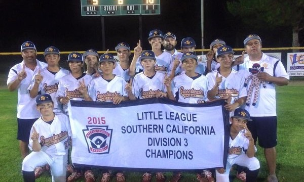 The Sweetwater Valley Little League team. Photo courtesy of Sweetwater Valley Little League.