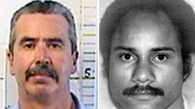 A recent photo of Jesus Cecena (r) and a file photo of Officer Archie Buggs. Photo courtesy of the California Department of Corrections and Rehabilitation; San Diego Police Department