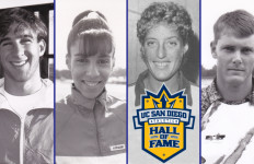 The four newest members of the UCSD Athletics Hall of Fame. Courtesy of UCSD Athletics Department.