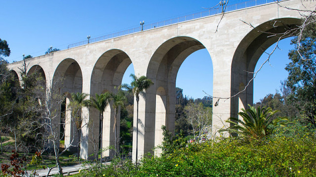The Cabrillo Bridge at Balboa Park. Image from Wikimedia Commons.