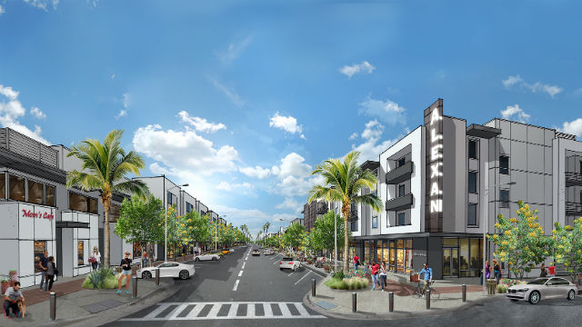 Rendering of the  Alexan apartment/mixed use neighborhood planned for Millenia. Courtesy of Trammell Crow Residential